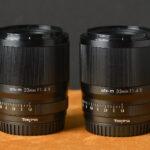 Tokina ATX-M 23 mm i 33 mm f/1.4